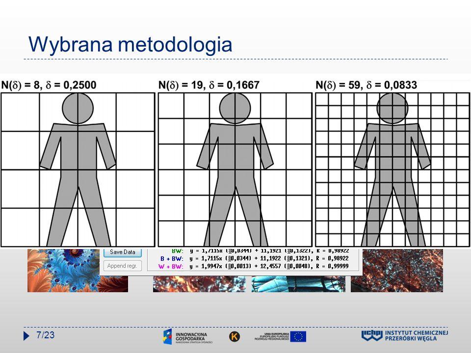 Wybrana metodologia 1. Analiza fraktalna - aplikacja HarFA (ang. Harmonic and Fractal Image Analyzer) Oznaczanie samopodobieństwa tekstury porowatej i
