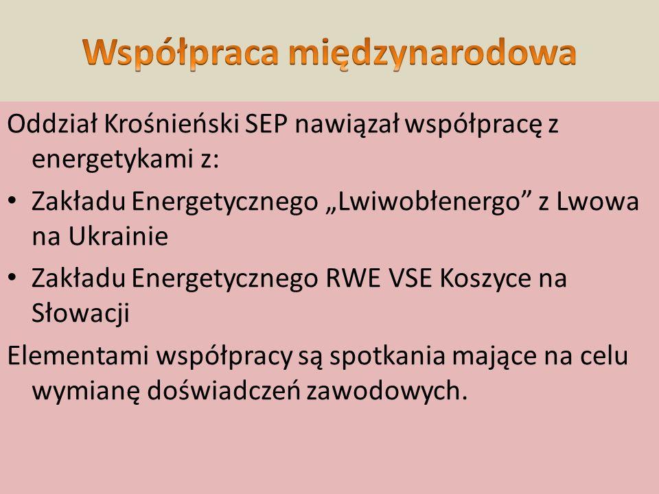 """Oddział Krośnieński SEP nawiązał współpracę z energetykami z: Zakładu Energetycznego """"Lwiwobłenergo"""" z Lwowa na Ukrainie Zakładu Energetycznego RWE VS"""