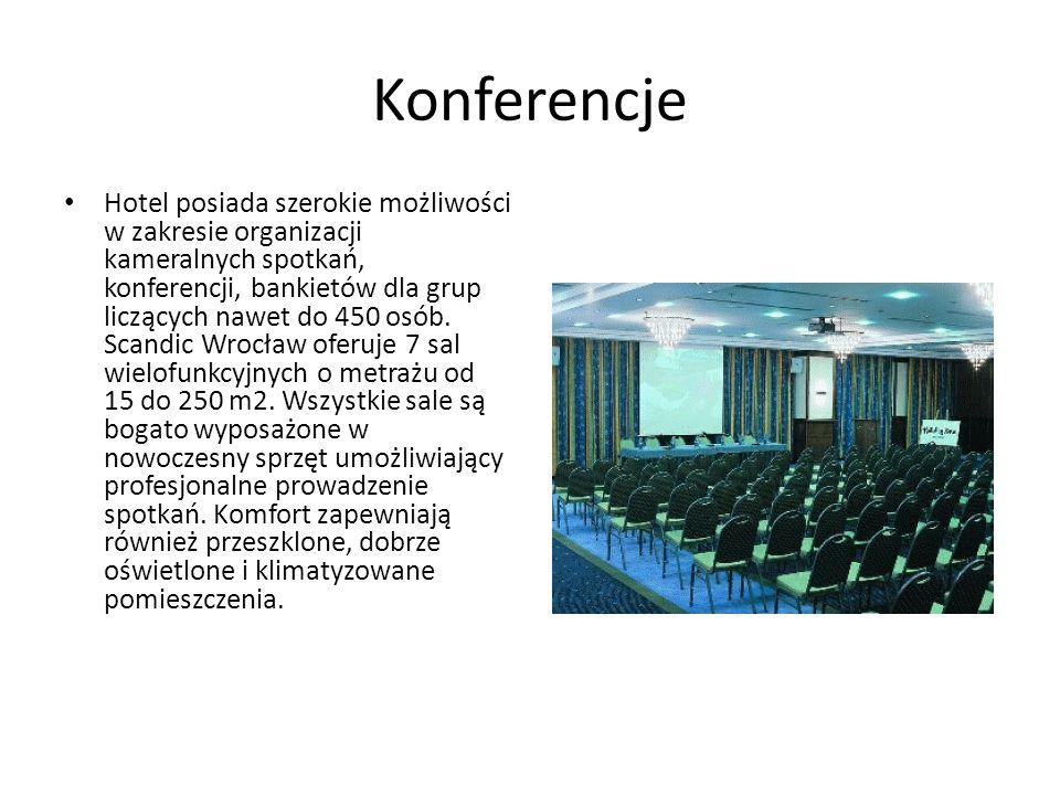 Konferencje Hotel posiada szerokie możliwości w zakresie organizacji kameralnych spotkań, konferencji, bankietów dla grup liczących nawet do 450 osób.