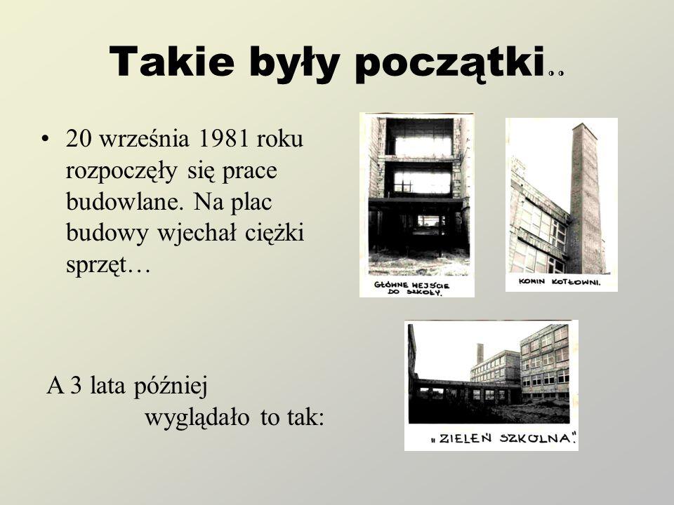 Takie były początki..20 września 1981 roku rozpoczęły się prace budowlane.