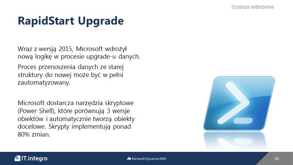 Wraz z wersją 2015, Microsoft wdrożył nową logikę w procesie upgrade-u danych. Proces przenoszenia danych ze starej struktury do nowej może być w pełn