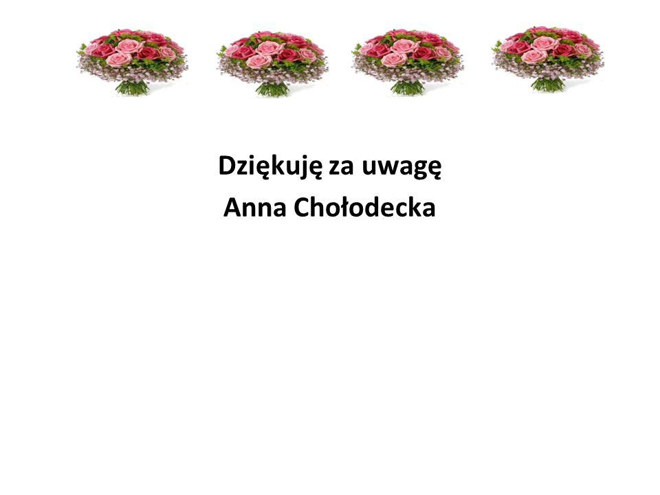 Dziękuję za uwagę Anna Chołodecka