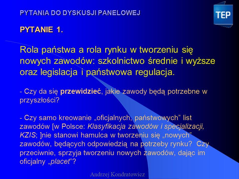 PYTANIA DO DYSKUSJI PANELOWEJ PYTANIE 2.PYTANIA DO DYSKUSJI PANELOWEJ PYTANIE 2.