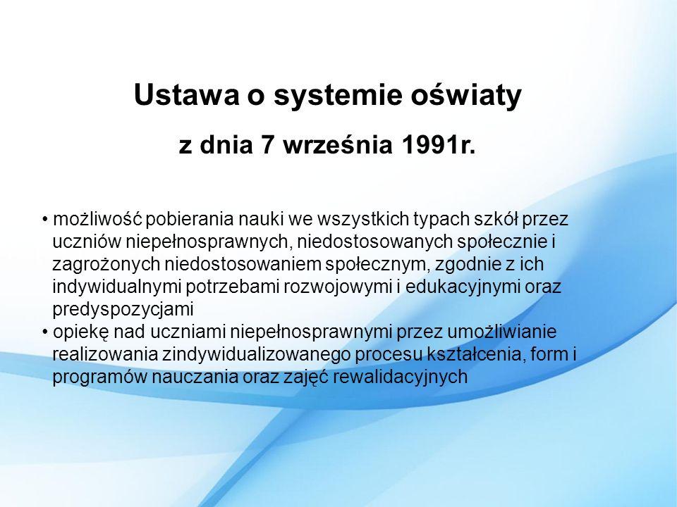 Ustawa o systemie oświaty z dnia 7 września 1991r.