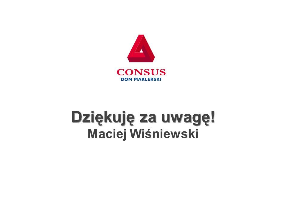Dziękuję za uwagę! Maciej Wiśniewski