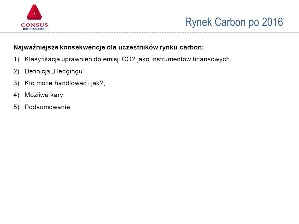Rynek Carbon po 2016 Ad.1.