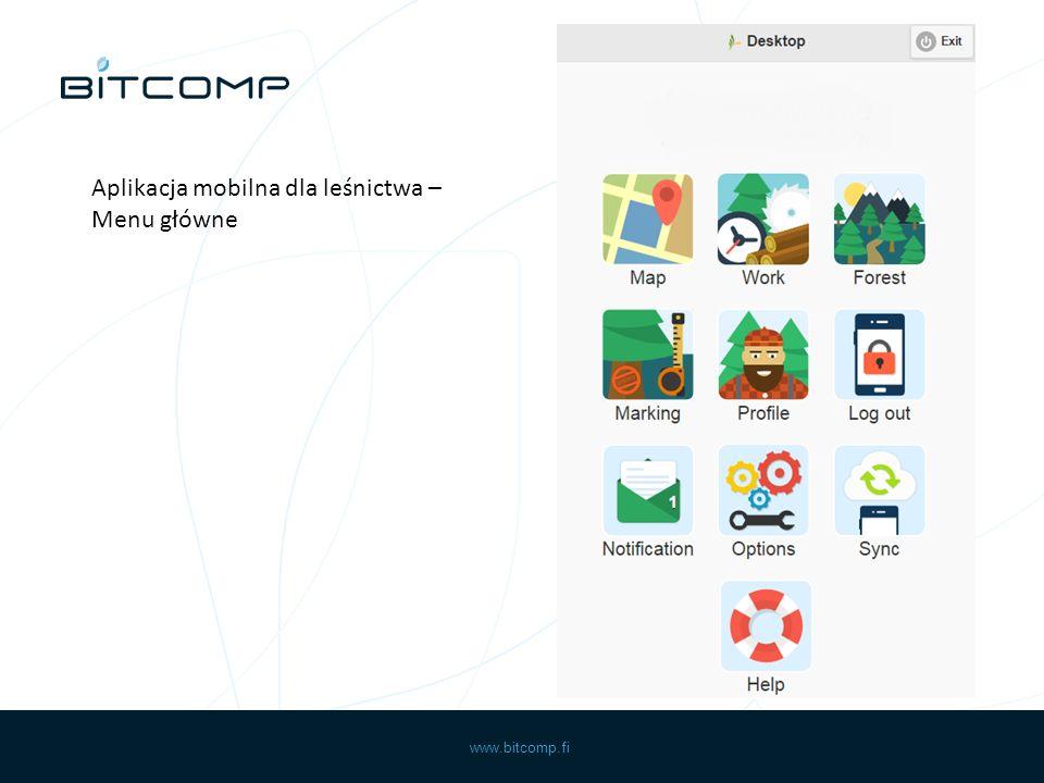 www.bitcomp.fi Aplikacja mobilna dla leśnictwa – obliczanie obszaru na mapie