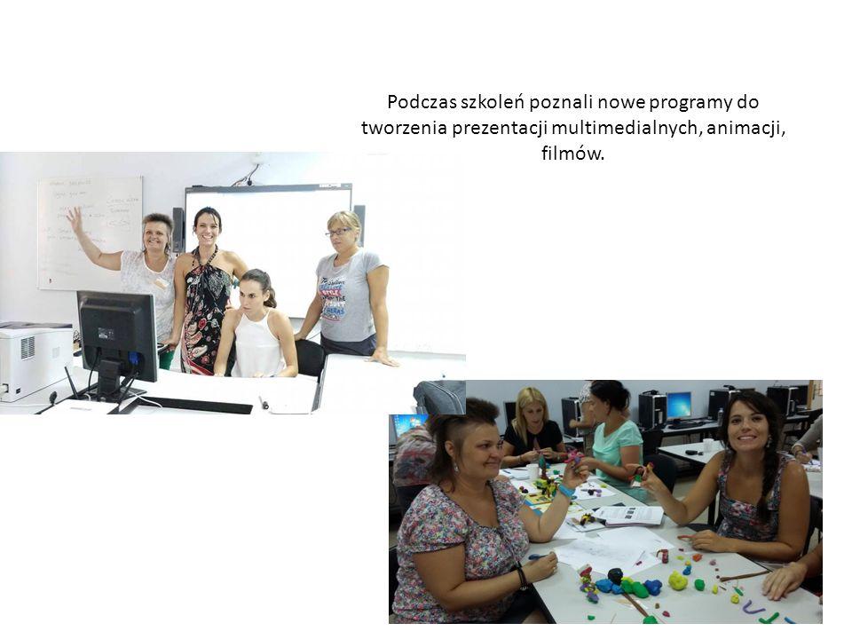 Podczas szkoleń poznali nowe programy do tworzenia prezentacji multimedialnych, animacji, filmów.