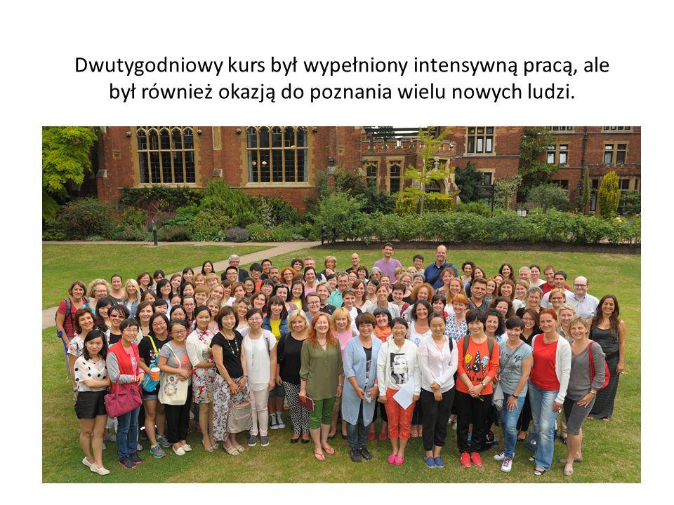 Dwutygodniowy kurs był wypełniony intensywną pracą, ale był również okazją do poznania wielu nowych ludzi.