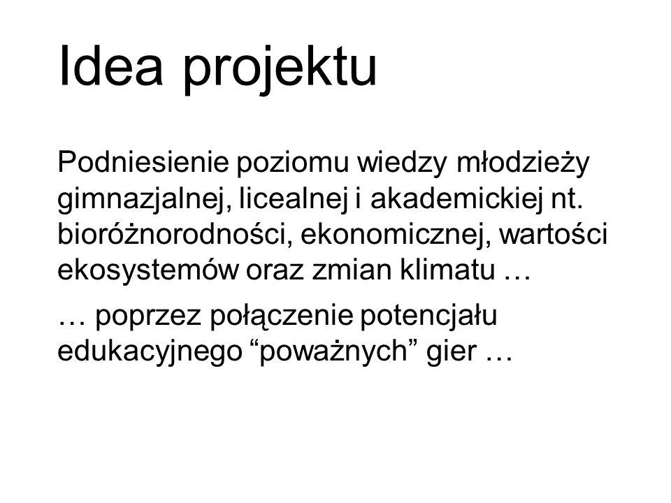 Idea projektu Podniesienie poziomu wiedzy młodzieży gimnazjalnej, licealnej i akademickiej nt.