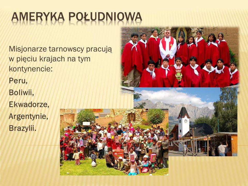 Misjonarze tarnowscy pracują w pięciu krajach na tym kontynencie: Peru, Boliwii, Ekwadorze, Argentynie, Brazylii.