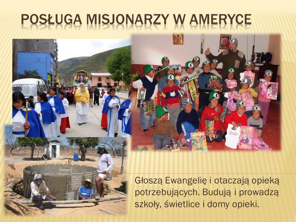 Głoszą Ewangelię i otaczają opieką potrzebujących. Budują i prowadzą szkoły, świetlice i domy opieki.