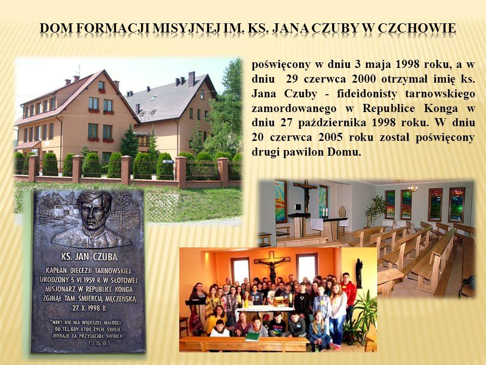 poświęcony w dniu 3 maja 1998 roku, a w dniu 29 czerwca 2000 otrzymał imię ks. Jana Czuby - fideidonisty tarnowskiego zamordowanego w Republice Konga