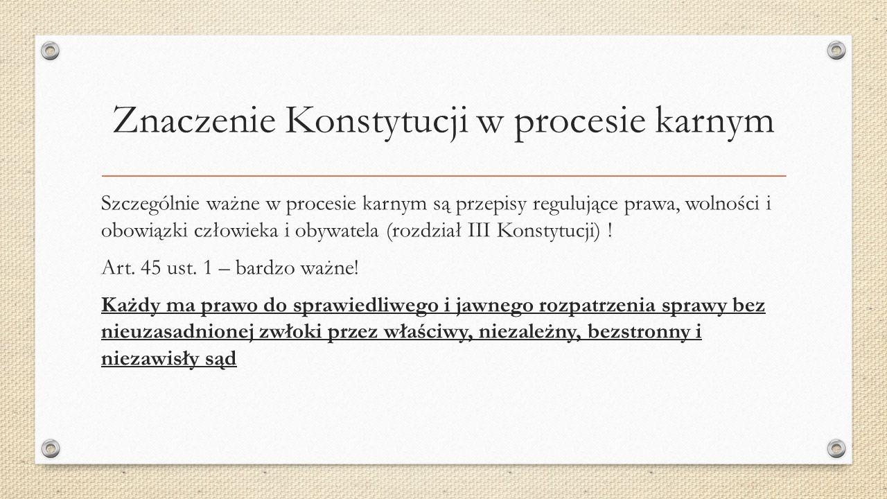 Zasady procesowe składające się na pojęcie rzetelnego procesu 1.