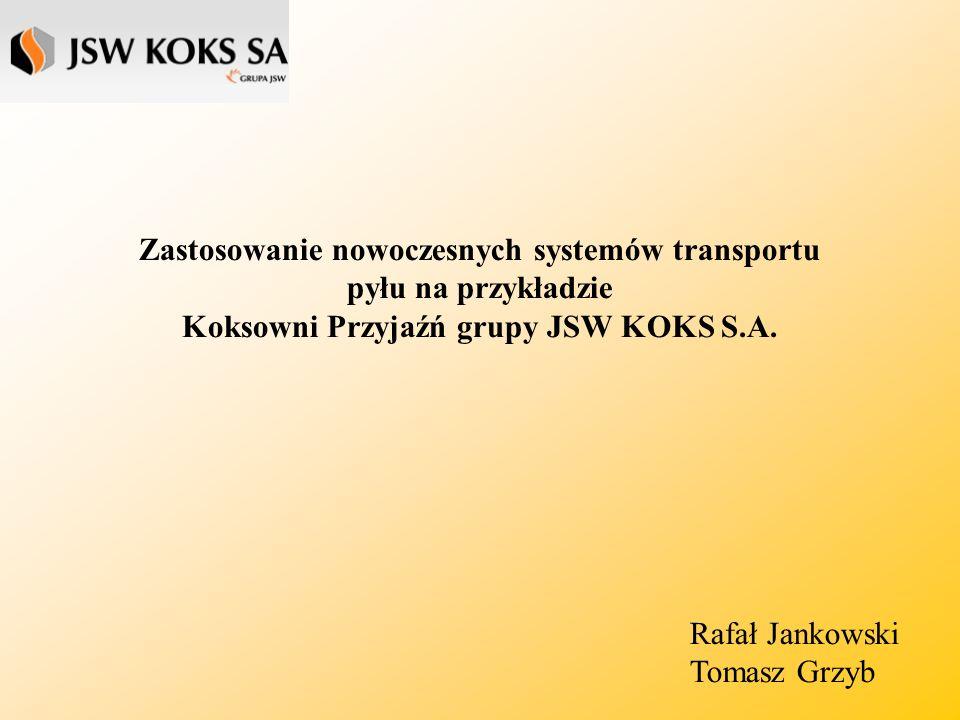 Zastosowanie nowoczesnych systemów transportu pyłu na przykładzie Koksowni Przyjaźń grupy JSW KOKS S.A.
