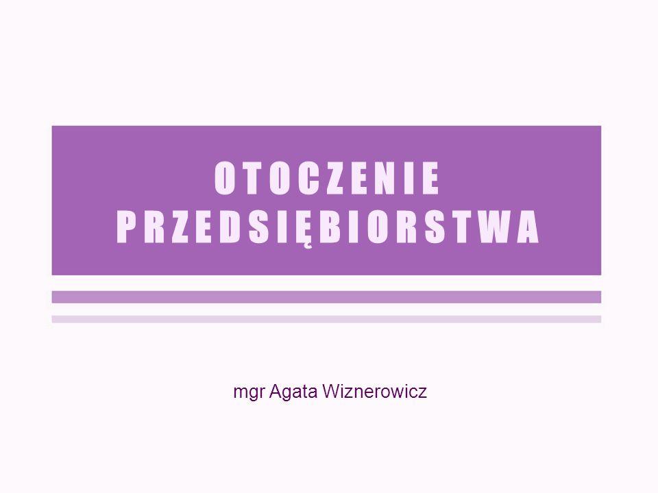 O T O C Z E N I E P R Z E D S I Ę B I O R S T W A mgr Agata Wiznerowicz