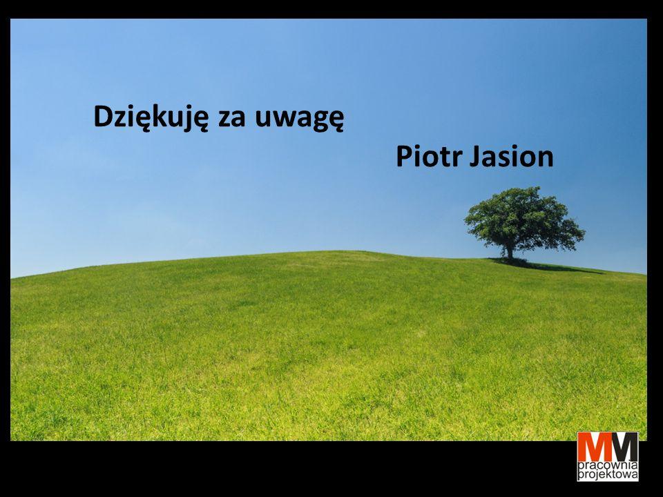 Dziękuję za uwagę Piotr Jasion