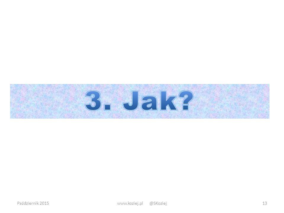 Październik 2015www.koziej.pl @SKoziej13