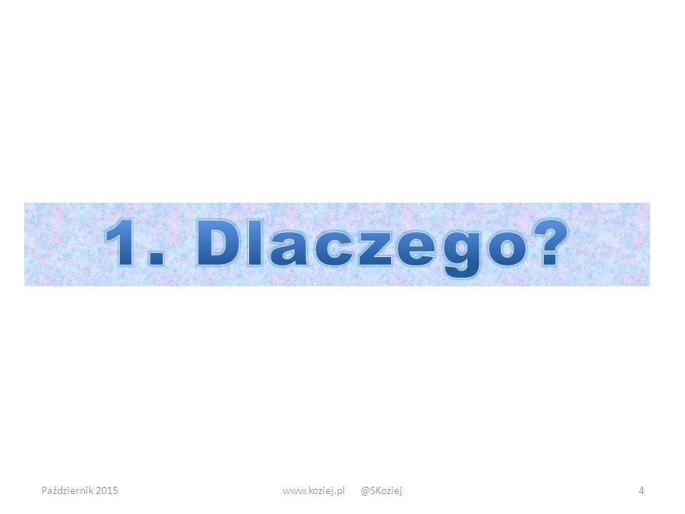 Październik 2015www.koziej.pl @SKoziej4