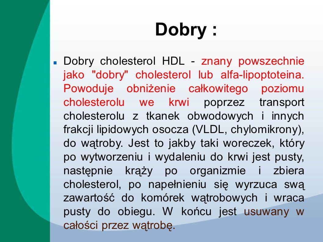 Dobry : Dobry cholesterol HDL - znany powszechnie jako