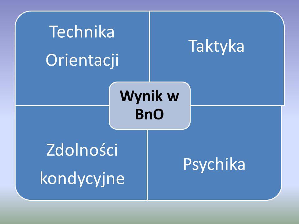 Technika Orientacji Taktyka Zdolności kondycyjne Psychika Wynik w BnO