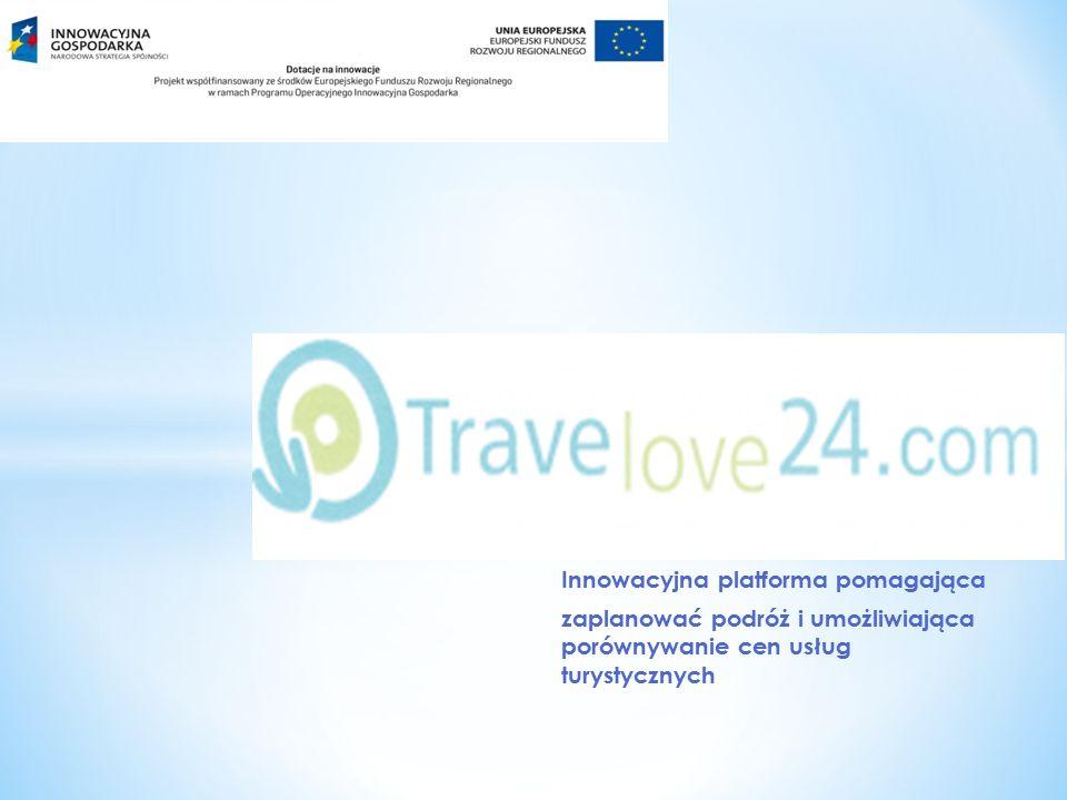 Innowacyjna platforma pomagająca zaplanować podróż i umożliwiająca porównywanie cen usług turystycznych
