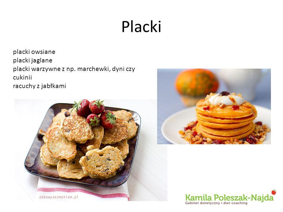 Placki placki owsiane placki jaglane placki warzywne z np. marchewki, dyni czy cukinii racuchy z jabłkami