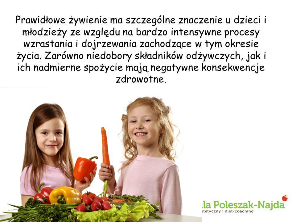 Prawidłowe żywienie ma szczególne znaczenie u dzieci i młodzieży ze względu na bardzo intensywne procesy wzrastania i dojrzewania zachodzące w tym okr