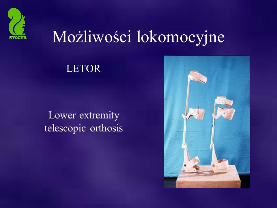 Możliwości lokomocyjne LETOR Lower extremity telescopic orthosis