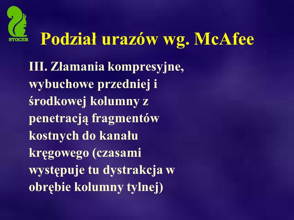 Podział urazów wg.McAfee III.