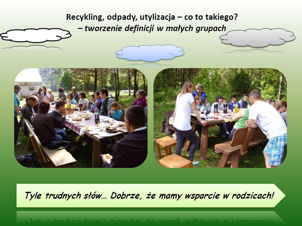 Recykling, odpady, utylizacja – co to takiego – tworzenie definicji w małych grupach