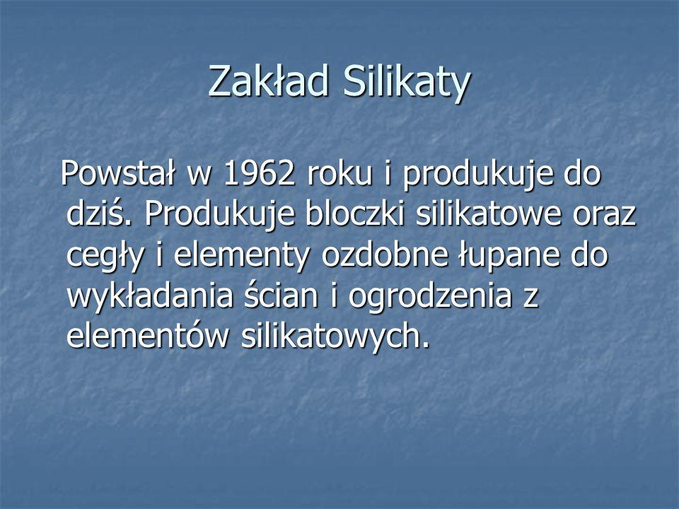 Zakład Silikaty Powstał w 1962 roku i produkuje do dziś.