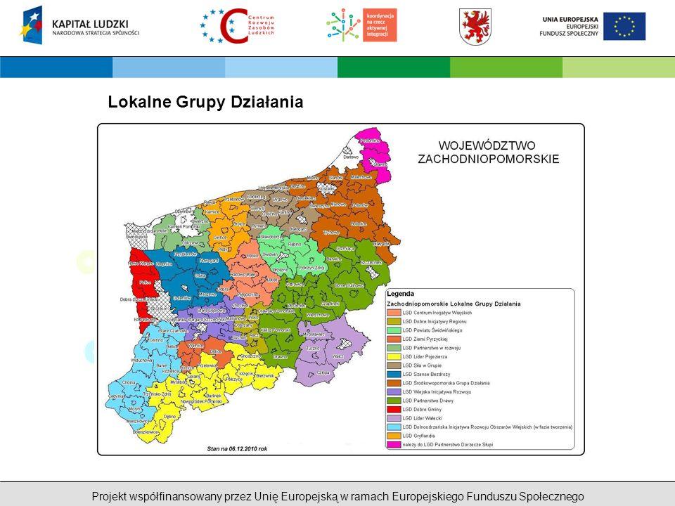 Projekt współfinansowany przez Unię Europejską w ramach Europejskiego Funduszu Społecznego Lokalne Grupy Działania
