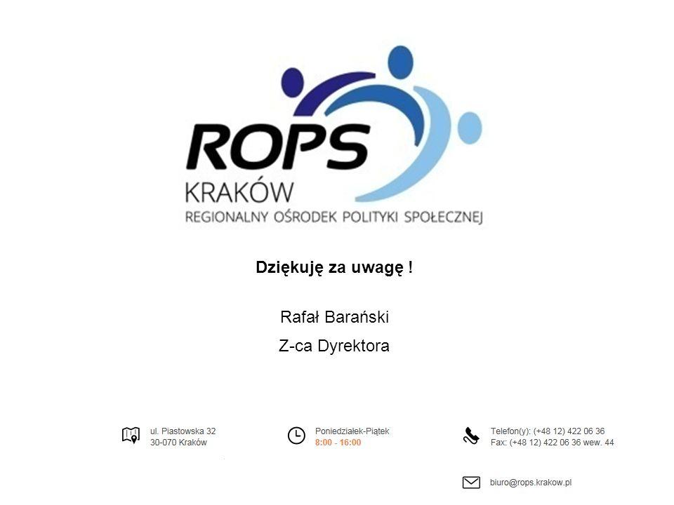 Dziękuję za uwagę ! Rafał Barański Z-ca Dyrektora