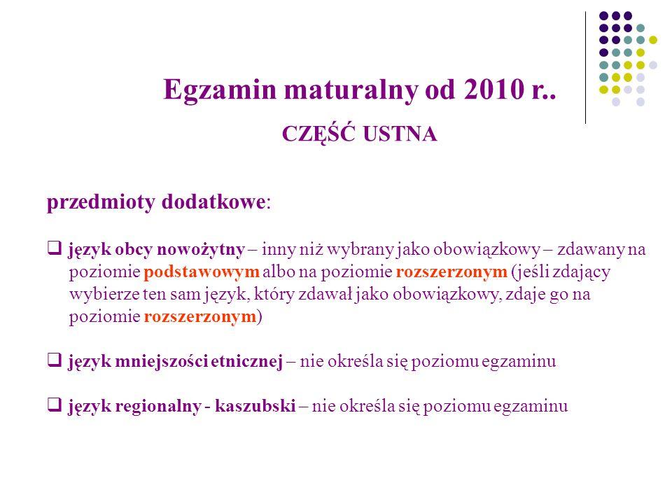 TERMINARZ 30 września 2009 - deklaracja wstępna 07 luty 2010 – deklaracja ostateczna Matura maj 2010