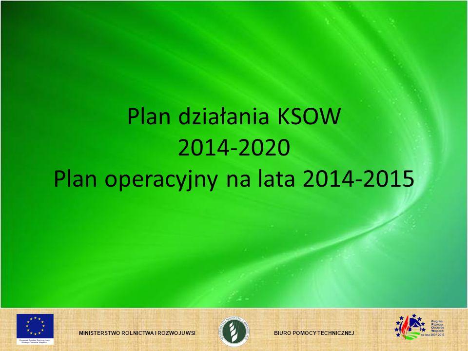 MINISTERSTWO ROLNICTWA I ROZWOJU WSIBIURO POMOCY TECHNICZNEJ Plan działania KSOW 2014-2020 Plan operacyjny na lata 2014-2015