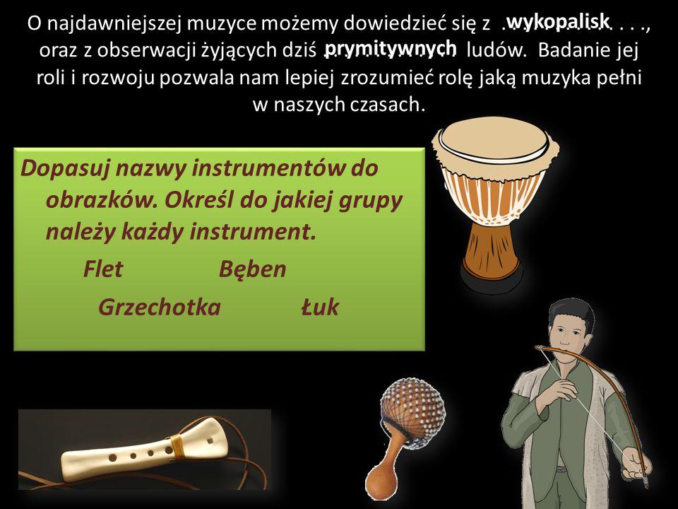 Podział instrumentów na grupy: DęteStrunowePerkusyjne Źródłem dźwięku jest drgający słup powietrza Źródłem dźwięku jest drgająca struna Źródłem dźwięk