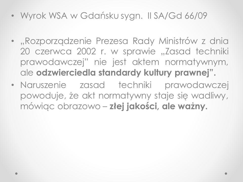 Wyrok WSA w Gdańsku sygn.