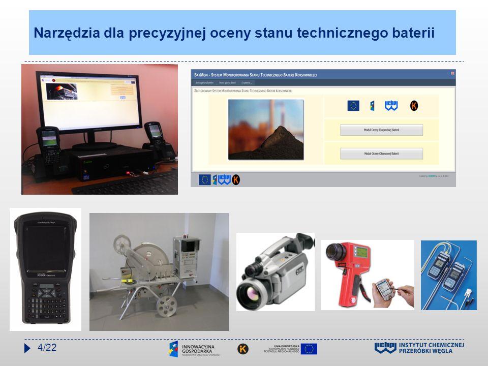 ICHPW – ARCELORMITTAL OSTRAVA Regularna optymalizacja pracy baterii koksowniczych w ArcelorMittal Ostrava REALIZOWANA PRZEZ ICHPW 12/2010 – 06/2011 – KB11 – BLOK B 02/2012 - 09/2012 – KB 11 – BLOK A 02/1013 - 09/2013 – KB1 I KB2 04/2014 – 09/2014- KB 11 – BLOK B AKTUALNIE 07/2015 – KB11 BLOK A Regulacja parametrów hydrauliczno - temperaturowych wszystkich nowowybudowanych baterii koksowniczych w Polsce Ostatnia regulacja baterii koksowniczej w 2000r bateria nr 4 w ZK Zdzieszowice 5/22
