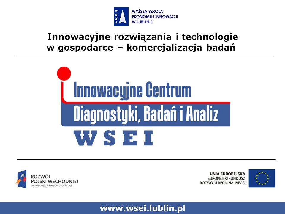 Innowacyjne rozwiązania i technologie w gospodarce – komercjalizacja badań www.wsei.lublin.pl