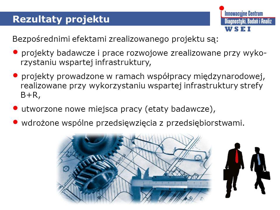 Rezultaty projektu Bezpośrednimi efektami zrealizowanego projektu są: projekty badawcze i prace rozwojowe zrealizowane przy wyko- rzystaniu wspartej i