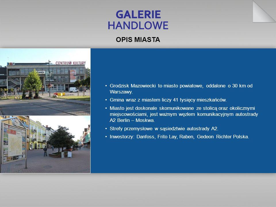 Grodzisk Mazowiecki to miasto powiatowe, oddalone o 30 km od Warszawy. Gmina wraz z miastem liczy 41 tysięcy mieszkańców. Miasto jest doskonale skomun