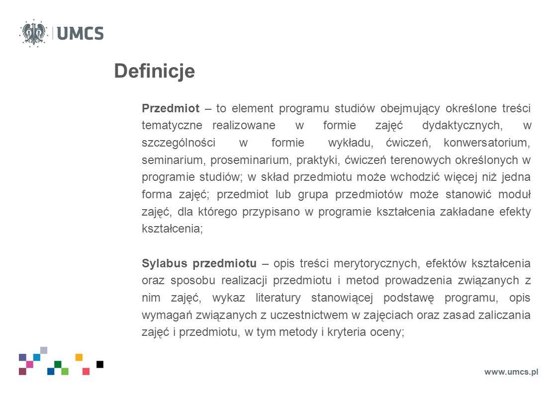 Część I - Pola formularza opisu przedmiotu Godzinowe ekwiwalenty punktów ECST C.D.