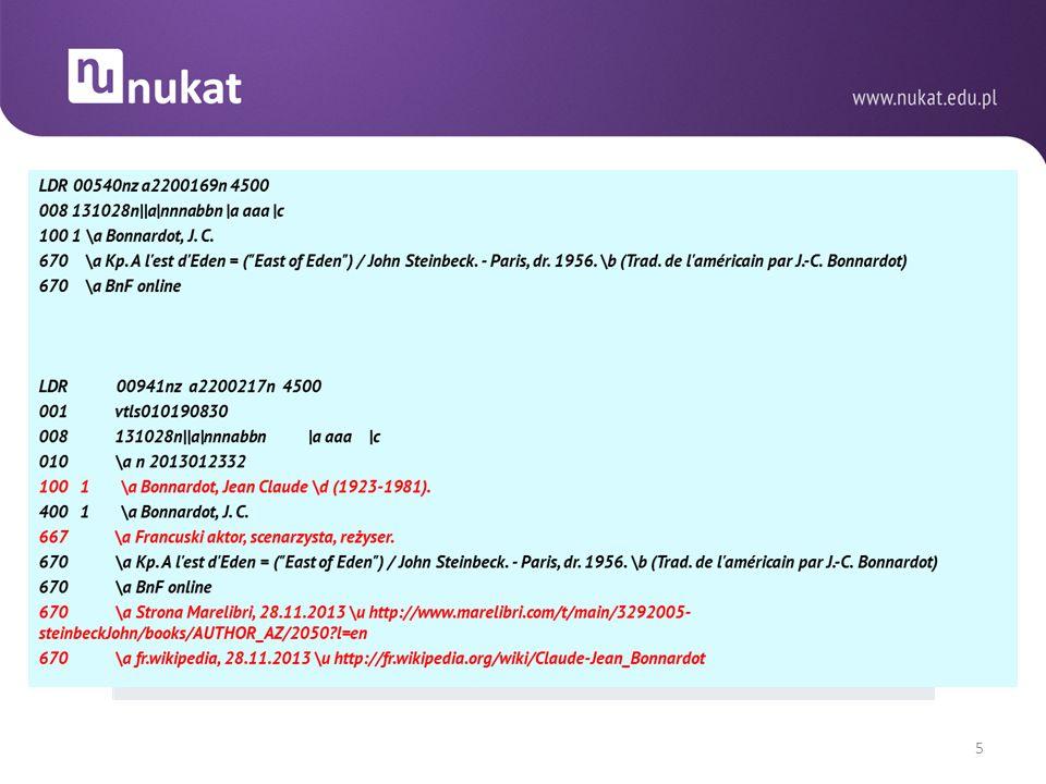 PODWÓJNE OPRACOWANIE DOKUMENTÓW Dotychczas możliwe w odniesieniu do wydawnictw ciągłych i zwartych ( http://centrum.nukat.edu.pl/images/stories/file/ustalenia/bibliograficzne/018_ciagle_uzup_2009.pdf ).