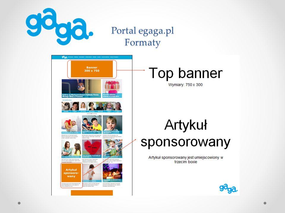 Portal egaga.pl Formaty