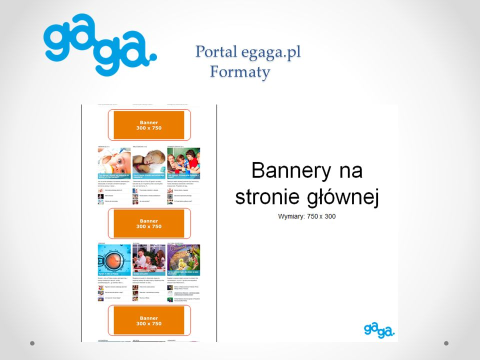 Portal egaga.pl Formaty Portal egaga.pl Formaty