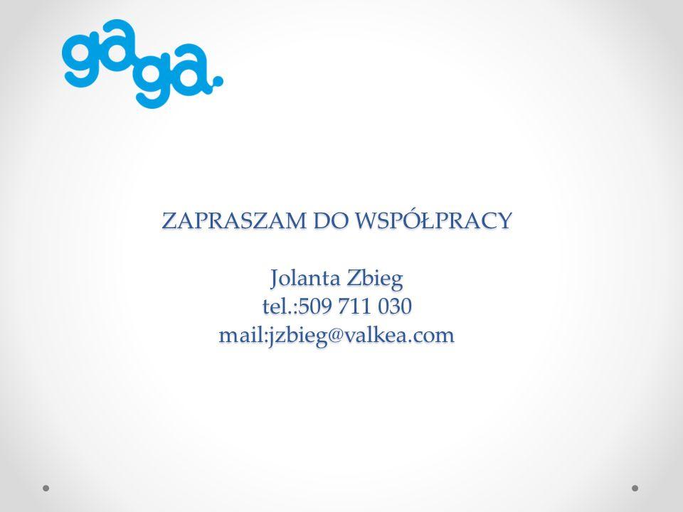 ZAPRASZAM DO WSPÓŁPRACY Jolanta Zbieg tel.:509 711 030 mail:jzbieg@valkea.com