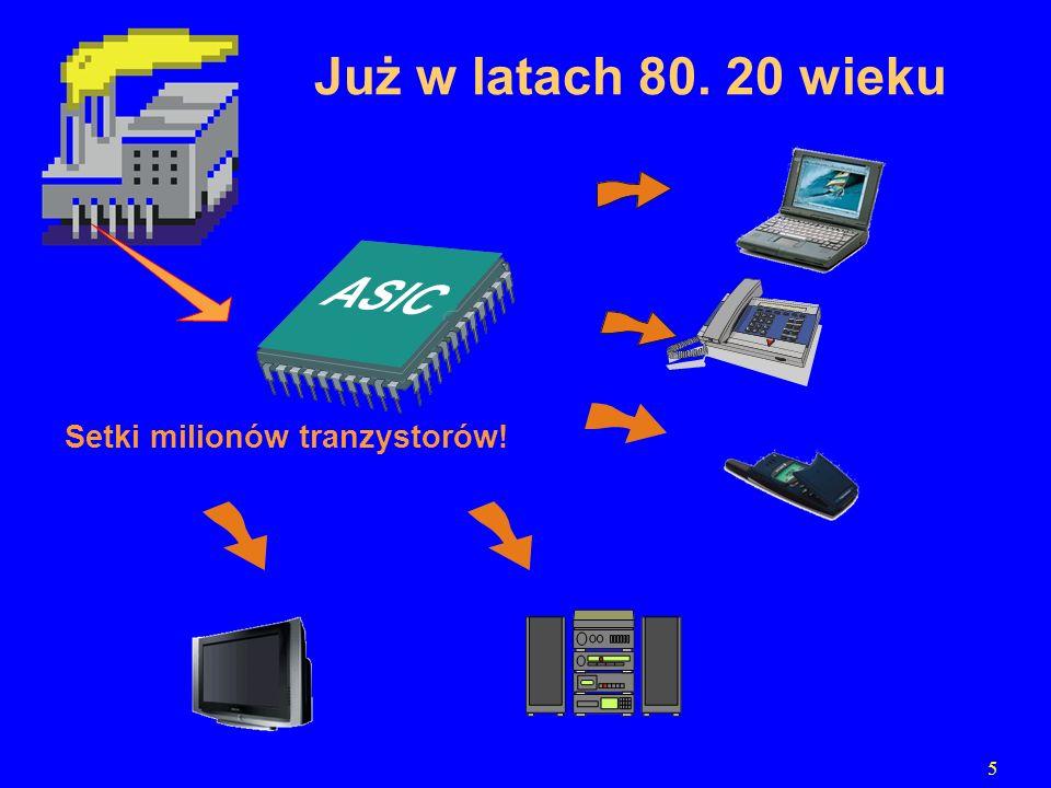 6 miliony bramek logicznych…dzisiaj …programowanie połączeń Programowalne moduły logiczne (Programmable Logic Devices) Nowa jakość…