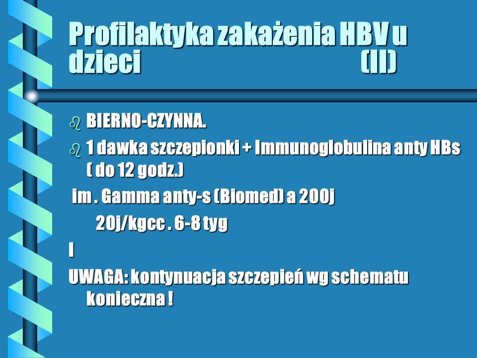 Profilaktyka zakażenia HBV u dzieci (II) b BIERNO-CZYNNA.