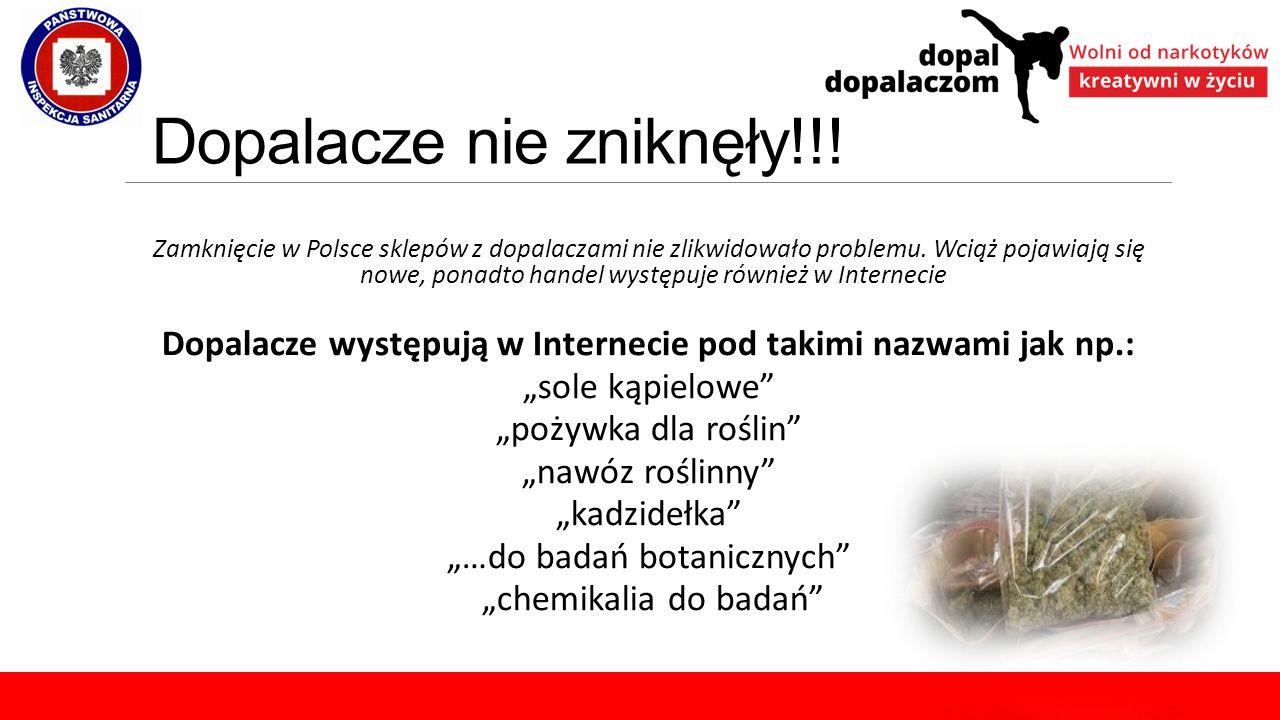 Dopalacze nie zniknęły!!! Zamknięcie w Polsce sklepów z dopalaczami nie zlikwidowało problemu. Wciąż pojawiają się nowe, ponadto handel występuje równ